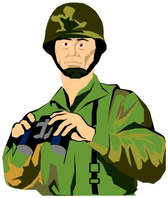 549x645 Army Clip Art