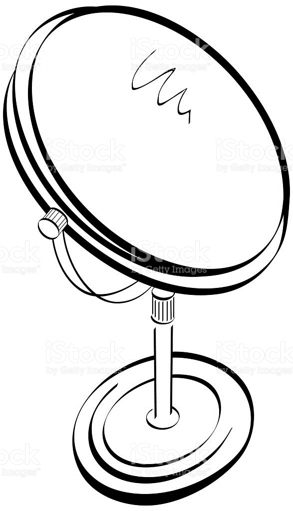 587x1024 Mirror Clipart Free. A Black And White Cartoon Of Man Adjusting