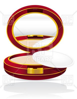 311x400 Round Powder Case With Mirror Royalty Free Vector Clip Art Image