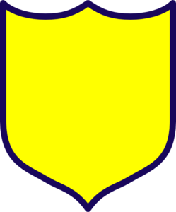 249x300 Yellow Shield Clip Art