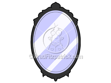 432x324 Cartoon Mirror Clip Art Royalty Free Mirror Clipart Cartoon