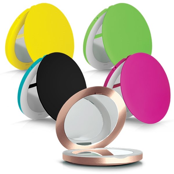 600x600 Lighted Compact Mirror