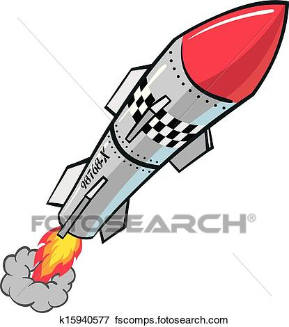415x470 Clip Art Of Rocket Missile K15940577