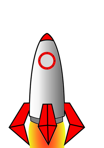 353x500 Space Missile Public Domain Vectors