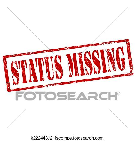 450x470 Clipart Of Status Missing Stamp K22244372