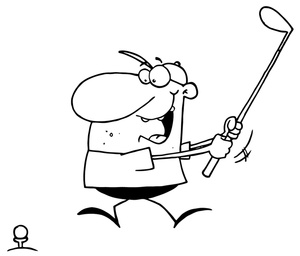 300x256 Golf Clipart Image