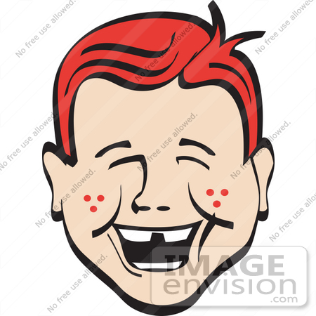 450x450 Royalty Free Cartoon Clip Art Of A Happy Red Haired Freckled Boy