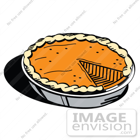 450x450 Clip Art Graphic Of A Slice Missing From A Fresh Pumpkin Pie