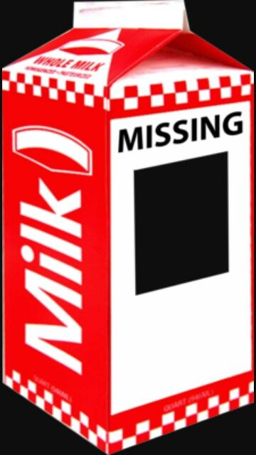 Missing Milk Carton Template Clipart
