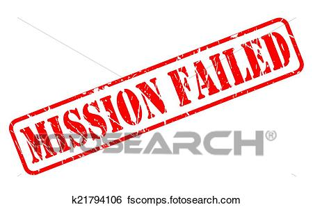450x298 Clip Art Of Mission Failed Red Stamp Text K21794106
