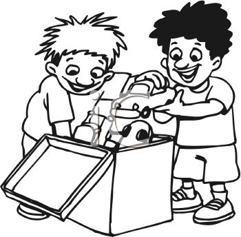 350x344 Outside The Box Black And White Clipart