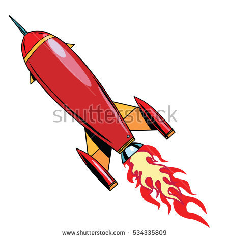 450x470 Missile Clipart Retro
