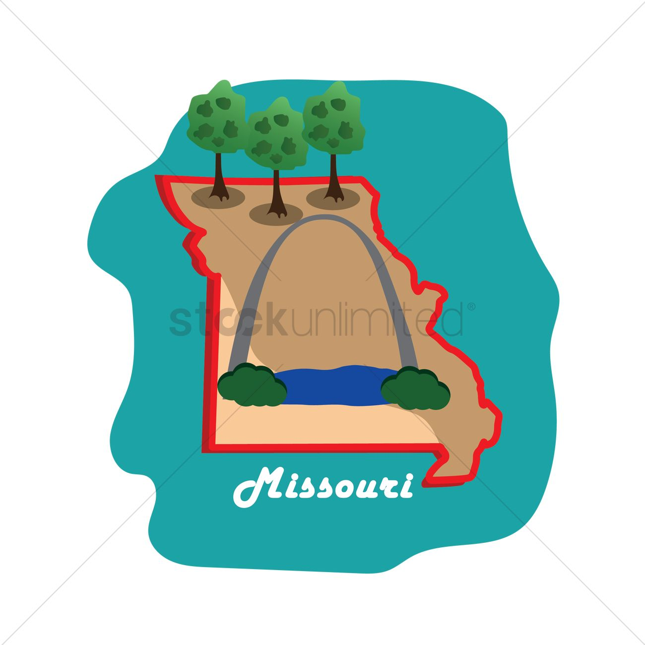 Missouri clipart free download best missouri clipart on 1300x1300 missouri state map with st louis gateway arch vector image buycottarizona