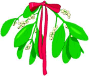 350x300 Free Clipart Picture Of Mistletoe