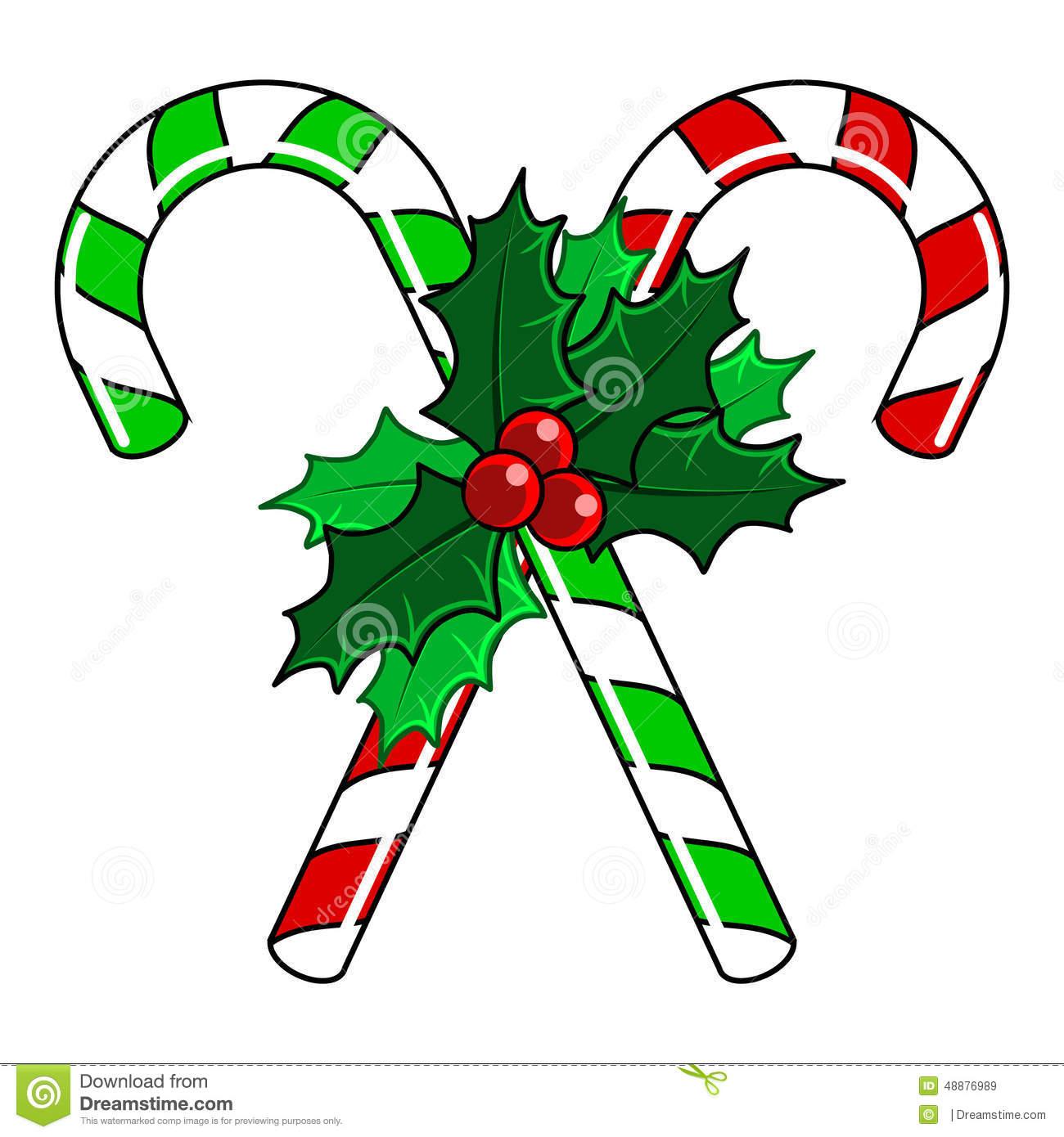 1300x1390 Candy Cane Clipart Christmas Mistletoe