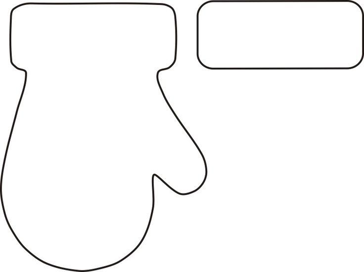 736x551 Glove Clipart Mitten Outline