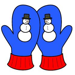 250x250 Snowman Clipart Mitten