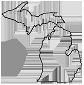 170x172 Large Michigan Mitten Clipart