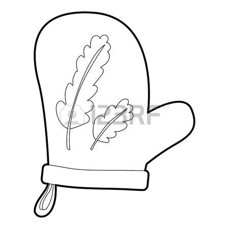 450x450 Mitten Icon. Cartoon Illustration Of Mitten Vector Icon For Web