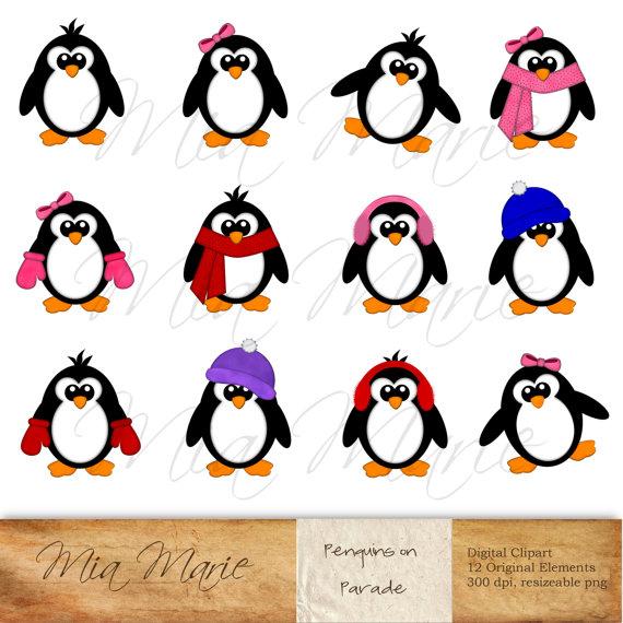 570x570 Penguins On Parade, Penguin Clip Art, Penguin Clipart, Scarf