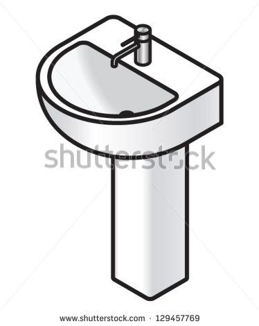 374x470 Clip Art Black And White Bathroom Clipart