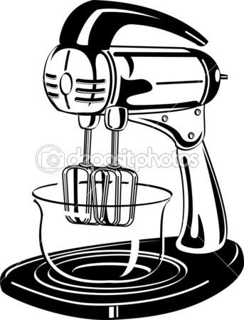 343x449 Electric Mixer Clipart