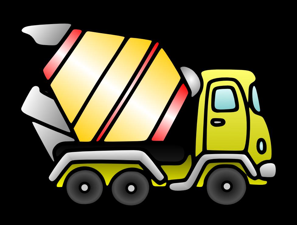 976x739 Free Cartoon Mixer Truck Clip Art