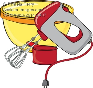 300x284 Items For Baking Hand Mixer And Bowl Royalty Free Clip Art Picture
