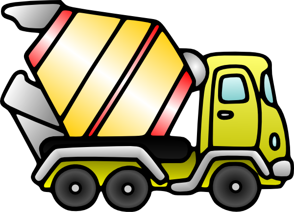 600x434 Mixer Truck Clip Art