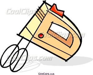 300x243 Electric Mixer Vector Clip Art