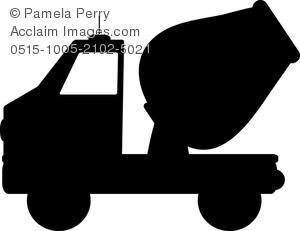 300x231 Art Image Of A Cartoon Cement Mixer Truck
