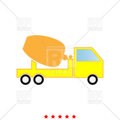 400x400 Cement Mixers Truck Icon Royalty Free Vector Clip Art Image