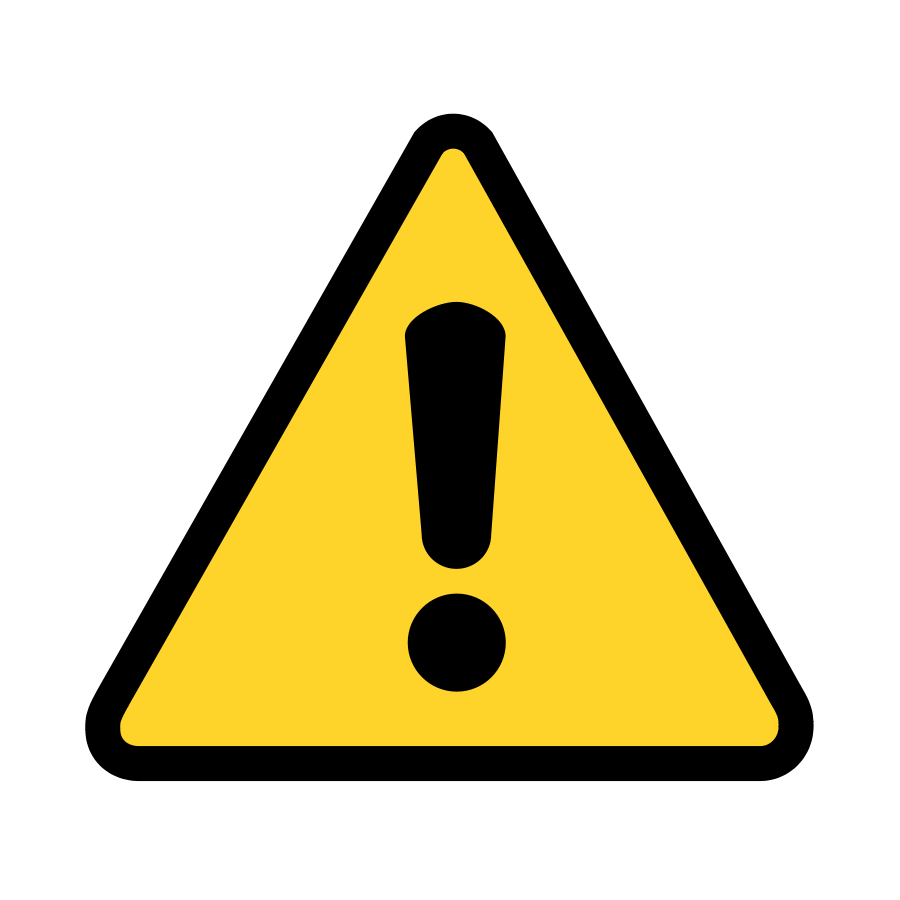 900x900 Warning Caution Clipart