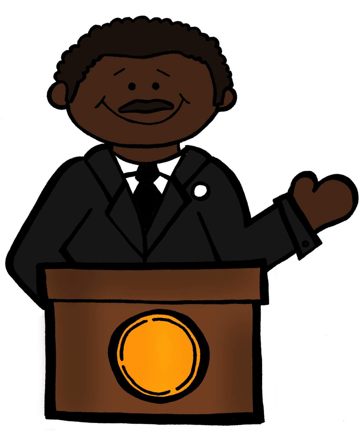 1265x1533 Martin Luther King Clipart