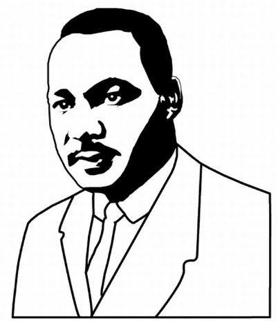 402x464 Martin Luther King Jr Black And White Clipart