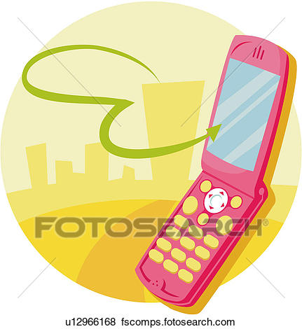 431x470 Clip Art Of Wireless, Information And Communications, Mobile Phone