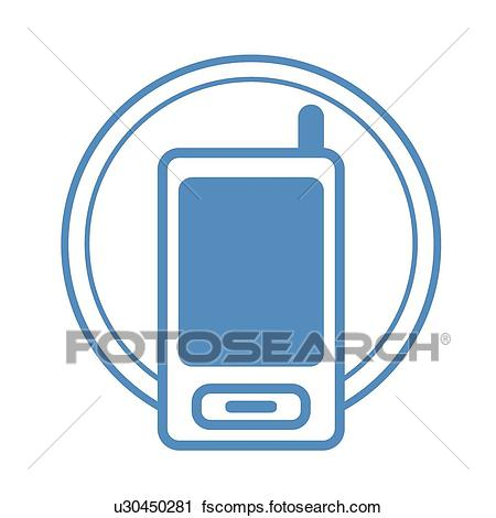 450x470 Clipart Of Cell Phone, Icons, Mobile Phone, Cell Phone, Mobile