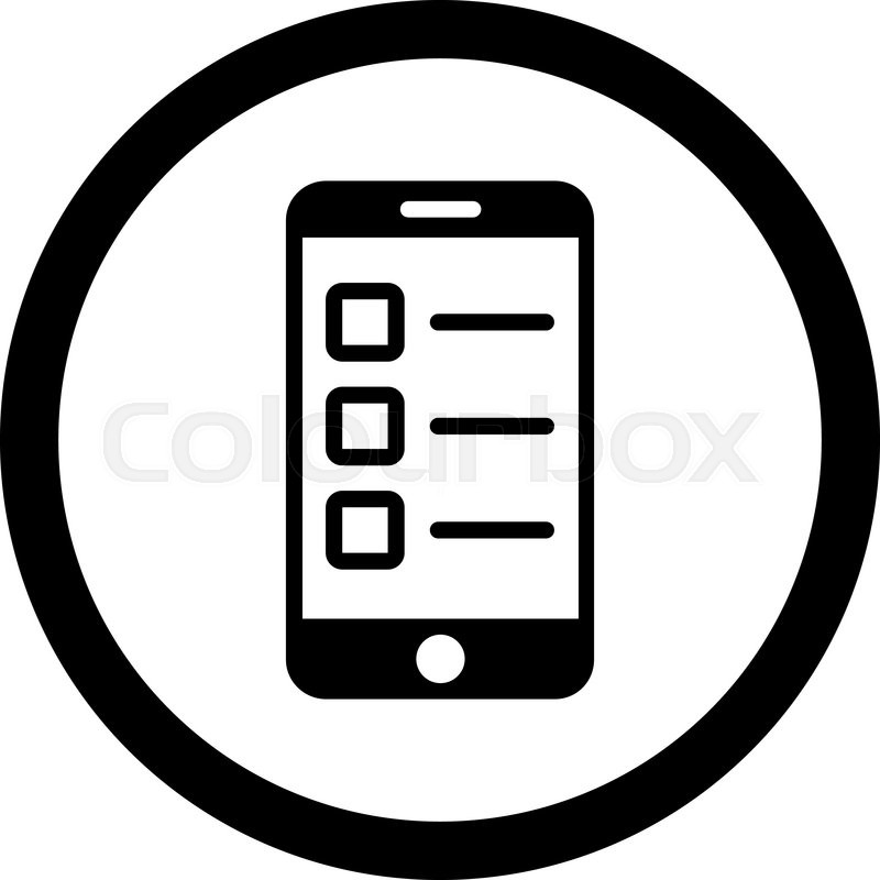 800x800 Mobile Test Vector Icon. This Rounded Flat Symbol Is Drawn