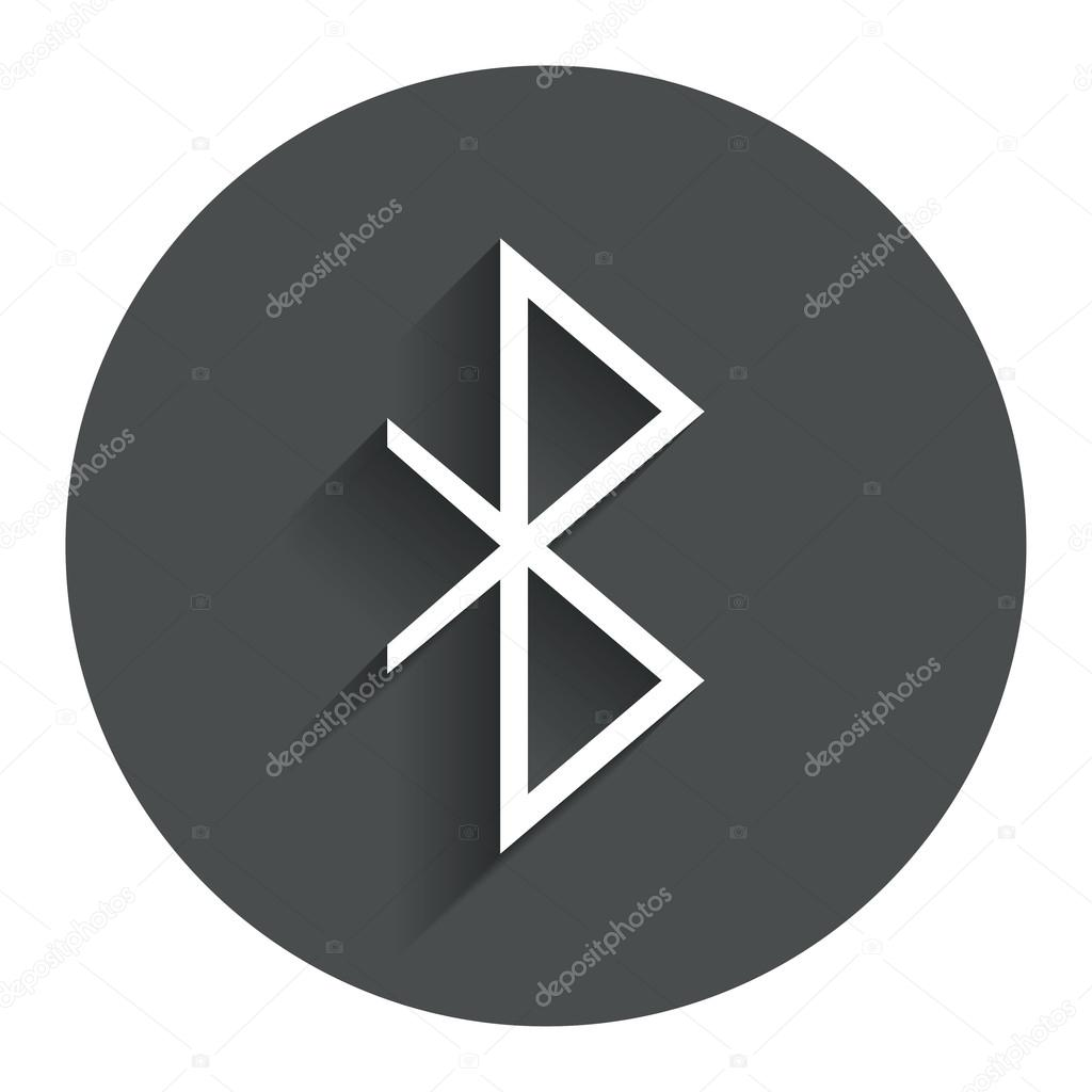 1024x1024 Bluetooth Sign Icon. Mobile Network Symbol. Stock Vector