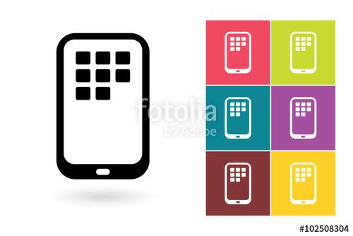 500x334 Smartphone Vector Icon Or Mobile Symbol. Mobile Icon Or Smartphone