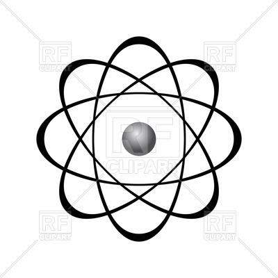 400x400 Abstract Model Of Atom Royalty Free Vector Clip Art Image