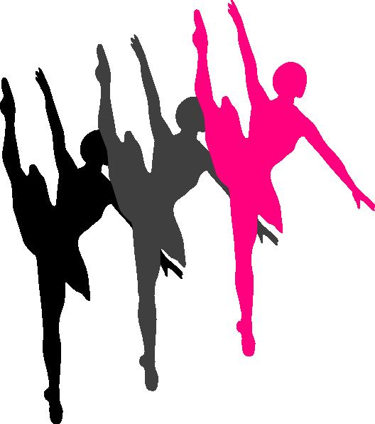 528x596 Triple Ballet Dancer Silhouette Clip Art