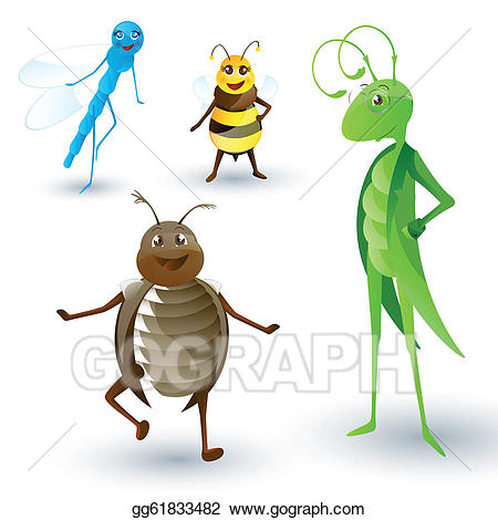 450x470 Garden Insects Clip Art