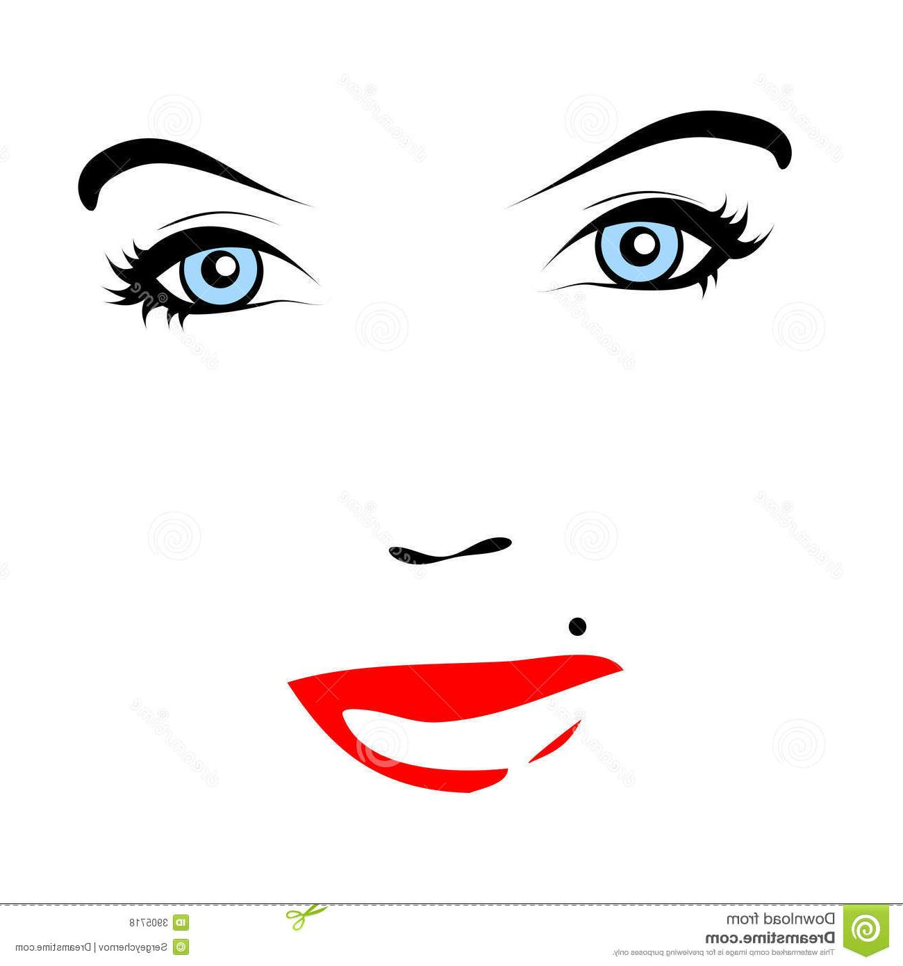 1300x1390 Best Mole Clip Art Red Lips Vector Face Image