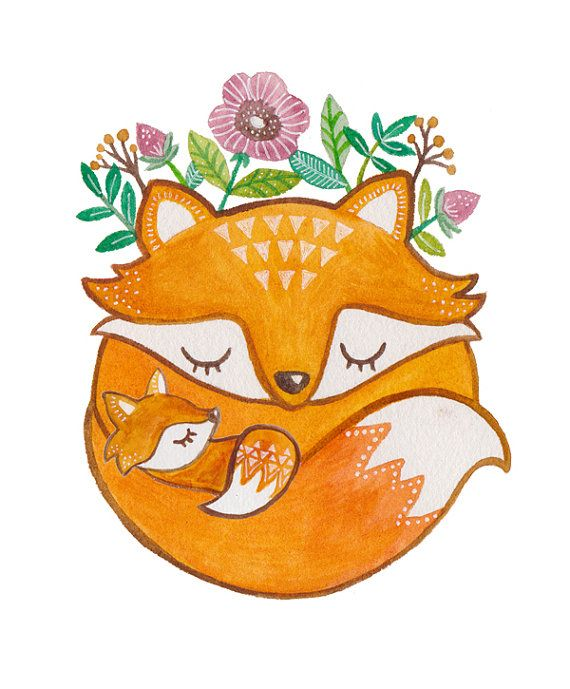 570x689 Fox Clipart Mother And Baby
