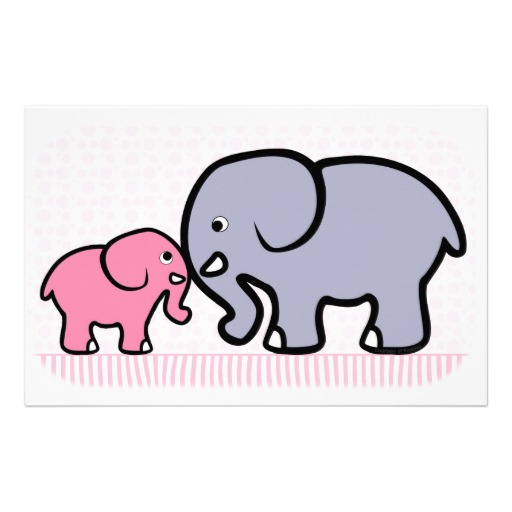 512x512 Mama And Baby Elephant Clip Art