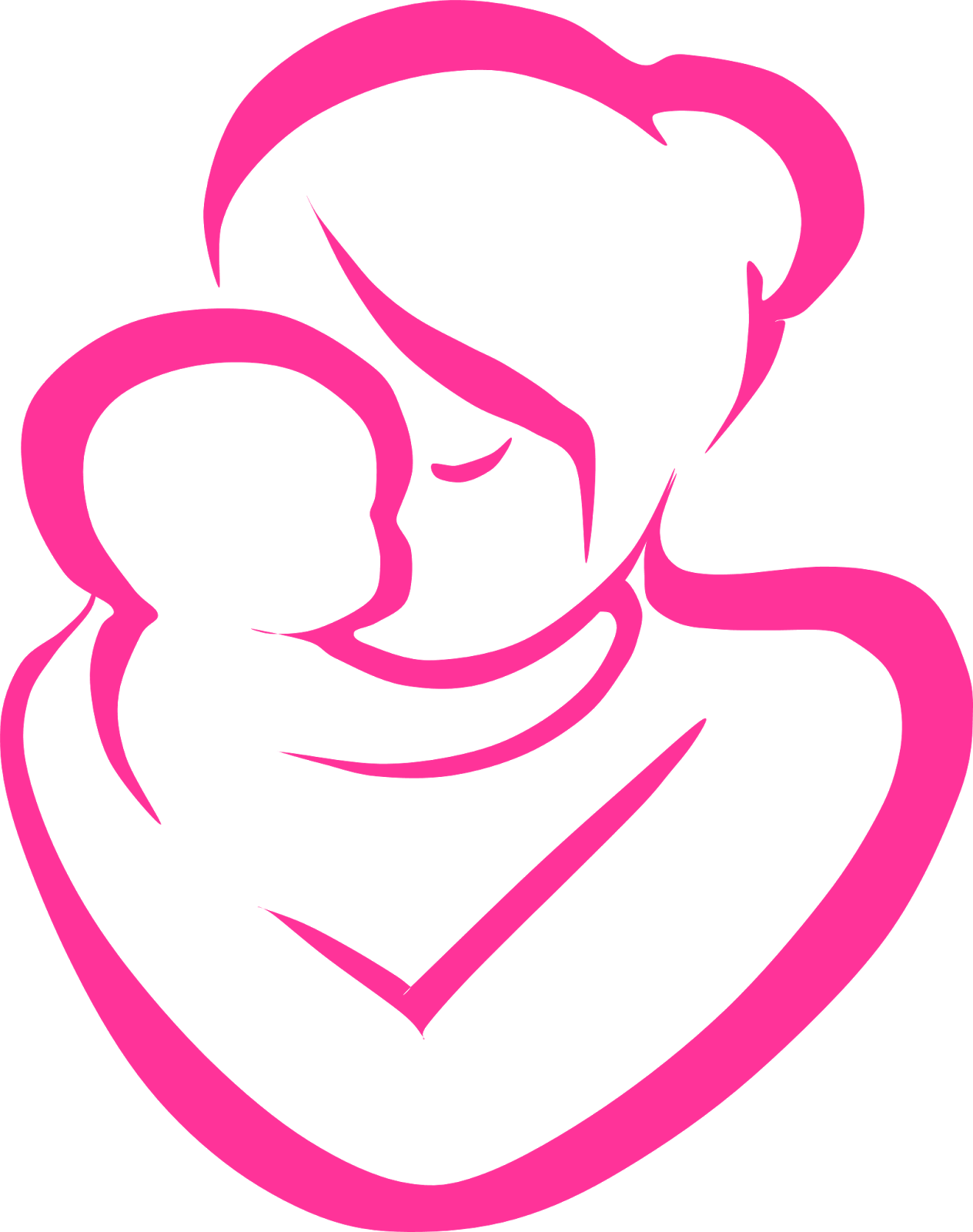 Mom And Baby Clipart | Free download best Mom And Baby ...