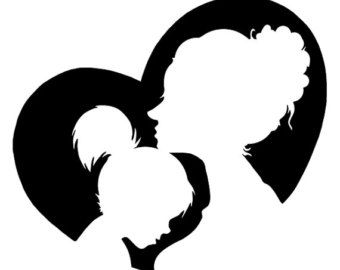 340x270 Best Mother Clipart Ideas Silouette Art, Mother