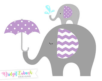 340x270 Elephant Baby Shower Clipart Baby And Mommy Elephant
