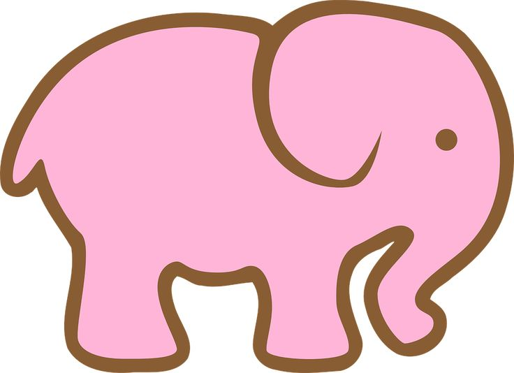 Mom And Baby Elephant Clipart